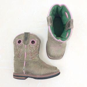 John Deere Toddler Cowboy Boots, Pink, 5M